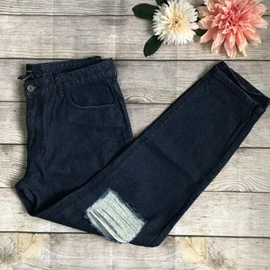 NWT High Waist Boyfriend Dark Wash Denim Jeans